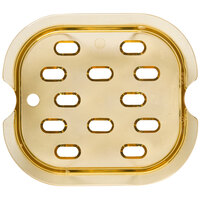 Rubbermaid FG345600AMBR 1/6 Size Amber High Heat Drain Tray