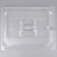 Rubbermaid FG128P86CLR 1/2 Size Clear Notched Food Pan Lid with Handle
