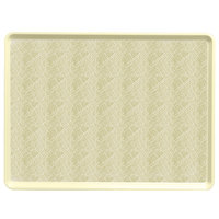 Cambro 1418D214 14 inch x 18 inch Abstract Tan Dietary Tray - 12/Case