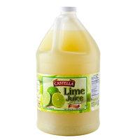 Castella 100% Lime Juice 1 Gallon Bottle   - 4/Case