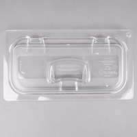 Rubbermaid 1842434 1/3 Size Clear Flip Lid with Peg Hole and Handle