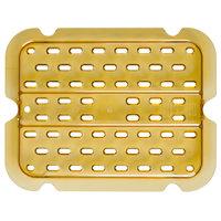 Rubbermaid FG113P00AMBR 1/4 Size Amber High Heat Drain Tray