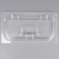 Rubbermaid 1842435 1/3 Size Clear Notched Flip Lid with Handle