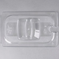 Rubbermaid FG114P86CLR 1/4 Size Clear Notched Food Pan Lid with Handle
