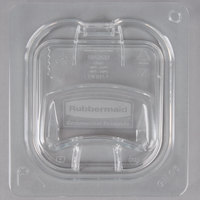 Rubbermaid 1842437 1/6 Size Clear Notched Flip Lid with Handle