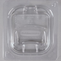 Rubbermaid 1842436 1/6 Size Clear Flip Lid with Peg Hole and Handle