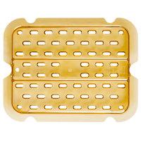 Rubbermaid FG127P00AMBR 1/2 Size Amber High Heat Drain Tray
