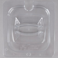 Rubbermaid FG108P86CLR 1/6 Size Clear Notched Food Pan Lid with Handle