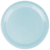 Creative Converting 28157011 7 inch Pastel Blue Plastic Plate - 240/Case