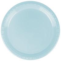 Creative Converting 28157011 7 inch Pastel Blue Plastic Plate - 240/Case