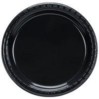 Creative Converting 28134011B 7 inch Black Velvet Plastic Plate - 600/Case