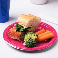 Creative Converting 28177011 7 inch Hot Magenta Pink Plastic Plate - 240/Case