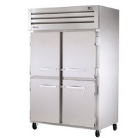 True STR2R-4HS Specification Series Two Section Reach In Refrigerator with Four Solid Half Doors - 56 Cu. Ft.