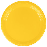 Creative Converting 28102111B 7 inch School Bus Yellow Plastic Plate - 600/Case