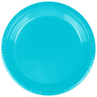 Creative Converting 28103921 9 inch Bermuda Blue Plastic Plate - 240/Case