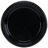 Creative Converting 28134021B 9 inch Black Velvet Plastic Plate - 600/Case