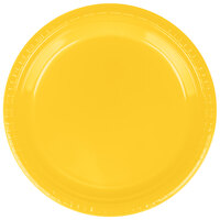 Creative Converting 28102121B 9 inch School Bus Yellow Plastic Dinner Plate - 600 / Case