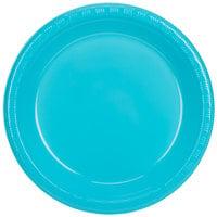 Creative Converting 28103931 10 inch Bermuda Blue Plastic Banquet Plate - 240/Case