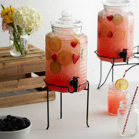 Acopa 1 Gallon Glass Beverage Dispenser with Metal Stand