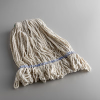 Continental A11112 24 oz. Loop End Natural Cotton Mop Head with 1 1/4 inch Band