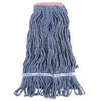 Continental A11211 16 oz. Blue Loop End Natural Cotton Mop Head with 1 1/4 inch Band