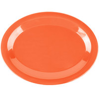 Carlisle 3308252 Sierrus 12 inch x 9 1/4 inch Sunset Orange Oval Melamine Platter - 12/Case