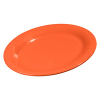 Carlisle 3308252 Sierrus 12 inch x 9 1/4 inch Sunset Orange Oval Melamine Platter - 12/Case