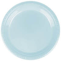 Creative Converting 28157021B 9 inch Pastel Blue Plastic Banquet Plate - 600 / Case