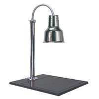 Hanson Heat Lamps SLM/BB/600ST Single Bulb Streamline Style 20 inch x 24 inch Stainless Steel Carving Station with Synthetic Granite Base