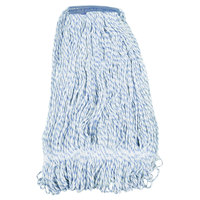 Continental A11413 32 oz. Blue and White Blend Loop End Mop Head with 1 1/4 inch Band