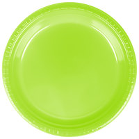 "Creative Converting 28312321 9"" Fresh Lime Green Plastic Plate - 240/Case"