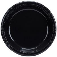 Creative Converting 28134031B 10 inch Black Velvet Plastic Plate - 600/Case