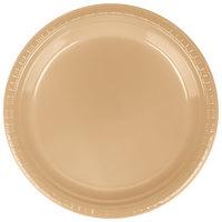 Creative Converting 28103021B 9 inch Glittering Gold Plastic Plate - 600/Case