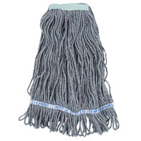 Continental A11212 24 oz. Blue Loop End Natural Cotton Mop Head with 1 1/4 inch Band