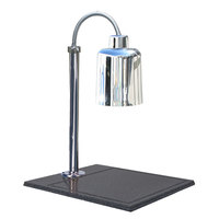 Hanson Heat Lamps SLM/BB/700ST Single Bulb Streamline Style 20 inch x 24 inch Stainless Steel Carving Station with Synthetic Granite Base