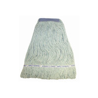 Continental A11312 24 oz. Green Loop End Natural Cotton Mop Head with 1 1/4 inch Band