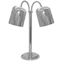 Hanson Heat Lamps DLM/700/ST Two Lamp Stainless Steel Freestanding Heat Lamp with Dual Bulbs and 700 Series Shades