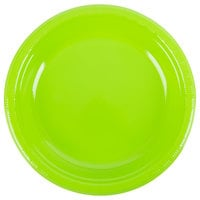 "Creative Converting 28312331 10"" Fresh Lime Green Plastic Plate - 240/Case"