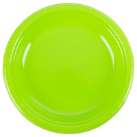 Creative Converting 28312331 10 inch Fresh Lime Green Plastic Plate - 240/Case
