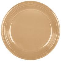 Creative Converting 28103031B 10 inch Glittering Gold Plastic Plate - 600/Case