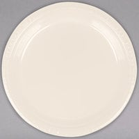 Creative Converting 28161021 9 inch Ivory Plastic Plate - 240/Case