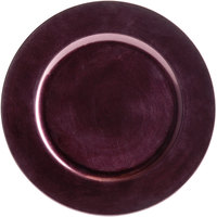 The Jay Companies 1320085 13 inch Round Purple Plastic Charger Plate