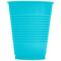 Creative Converting 28103981 16 oz. Bermuda Blue Solid Plastic Cup - 240 / Case