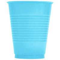 Creative Converting 28103981 16 oz. Bermuda Blue Plastic Cup   - 240/Case