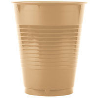 Creative Converting 28103081 16 oz. Glittering Gold Solid Plastic Cup - 240 / Case