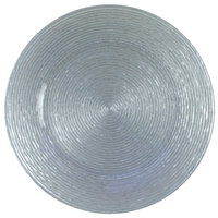 The Jay Companies 1470063 13 inch Round Circus Silver Glass Charger Plate