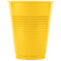 Creative Converting 28102181 16 oz. School Bus Yellow Plastic Cup   - 240/Case