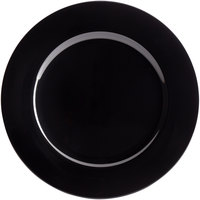 The Jay Companies 1270028 13 inch Round Black Plastic Charger Plate
