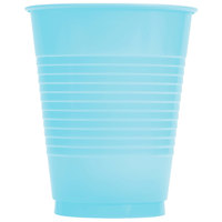 Creative Converting 28157081 16 oz. Pastel Blue Plastic Cup - 240/Case