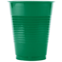 Creative Converting 28112081 16 oz. Emerald Green Solid Plastic Cup - 240/Case